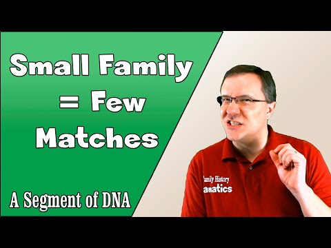 The Problem of Small Families - A Segment of DNA