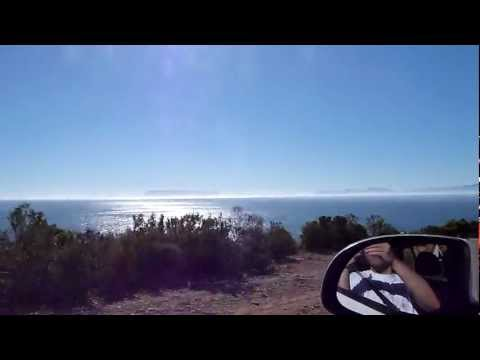 Driving along Faure Marine Drive (R44) South-Africa ...