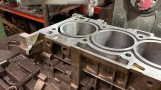 Шліфування прівалочной площині блоку циліндрів двигуна 2.4 л бензин G4KE від Kia Sorento