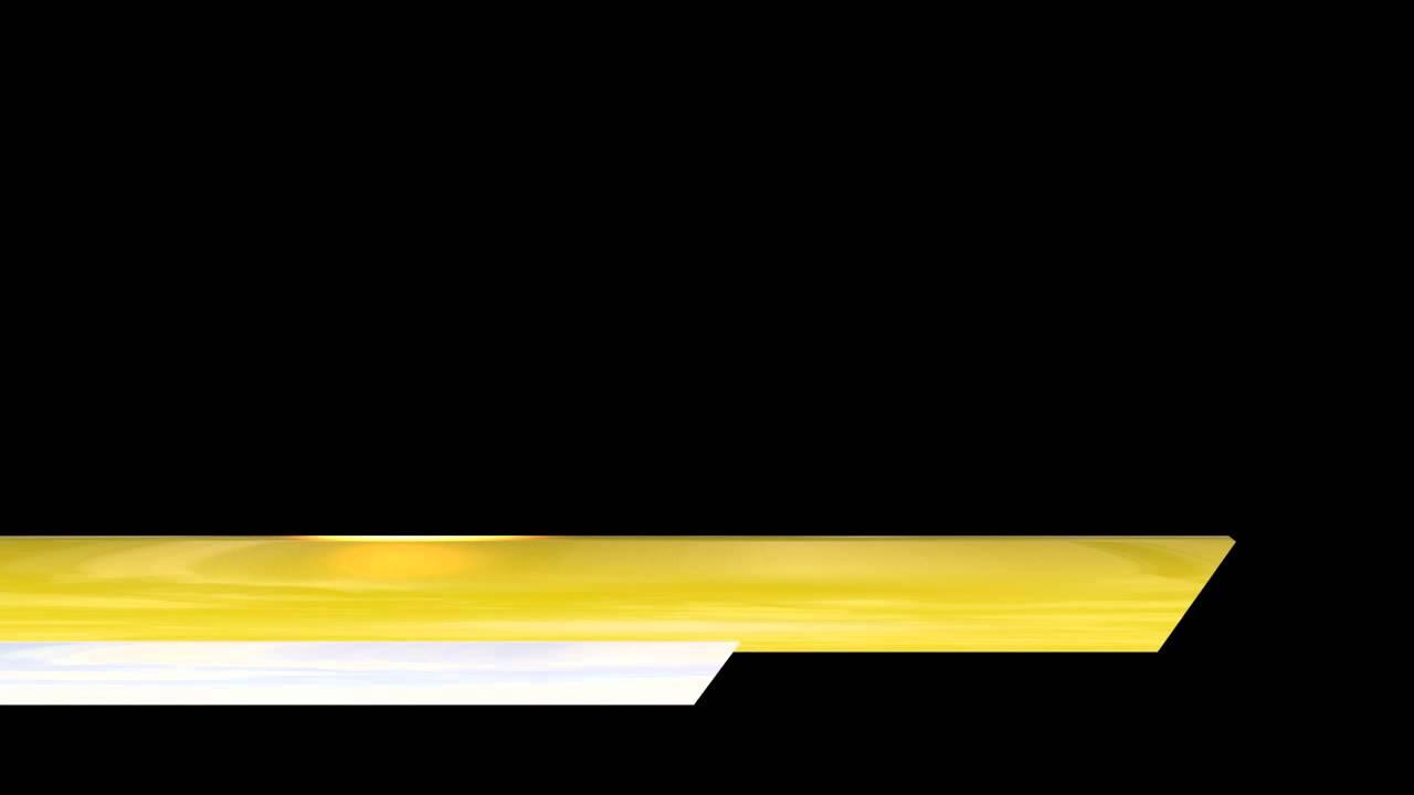 Video Lower Third Shiny Yellow White Bars Edge Cut - YouTube