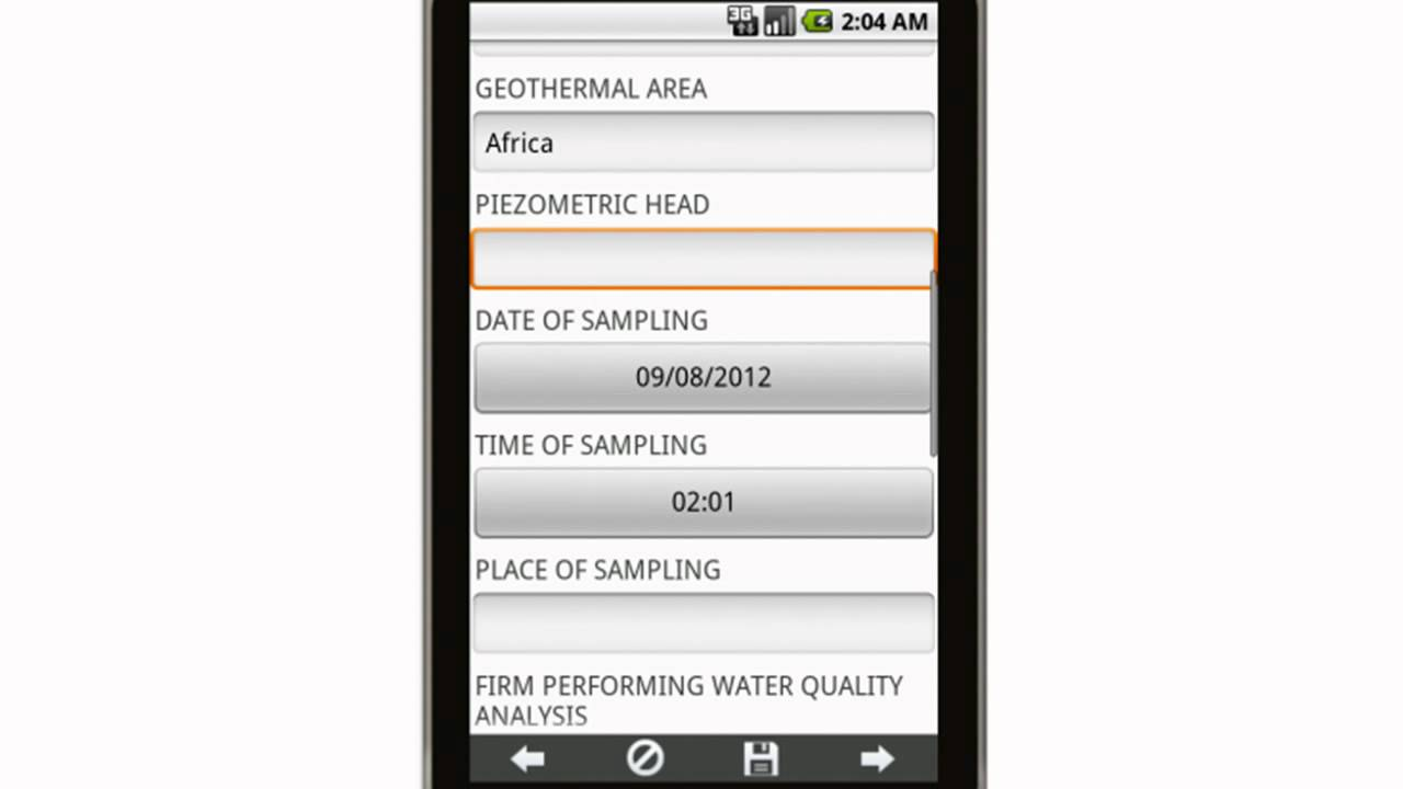 Canvas Ground Water Monitoring Report Mobile App