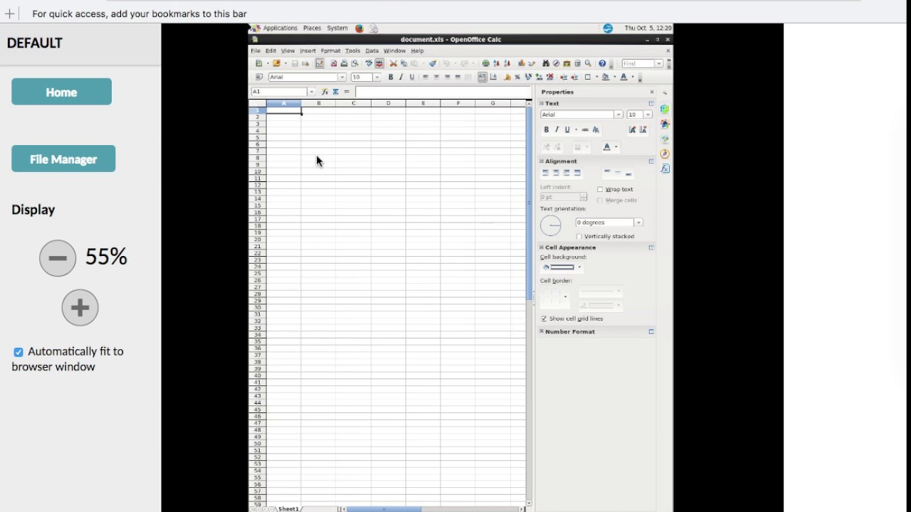 FileManager for OpenOffice Online and GIMP online