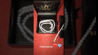 Customers Review by lucaleoo - Aporro 24 quot 1 9mm white gold single row tennis chain