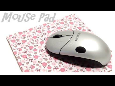 diy tappetino mouse fai da te shabby chic mouse pad