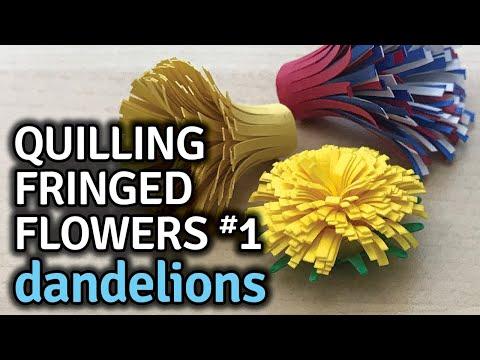 Quilling Fringed Flower #1 Dandelion