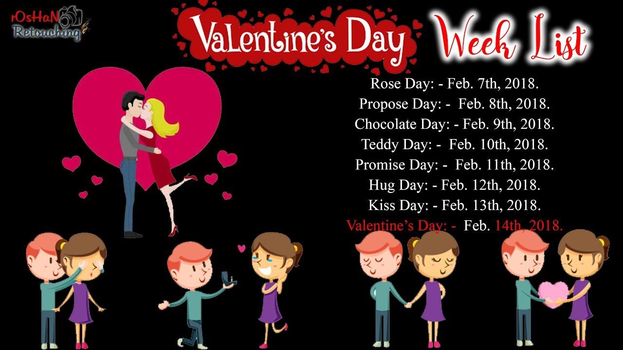 Valentine Days Week List Whatsapp Status February Special Days