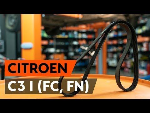 Как заменить поликлиновый ремень двигателя CITROEN C3 1 (FC, FN) [ВИДЕОУРОК AUTODOC]