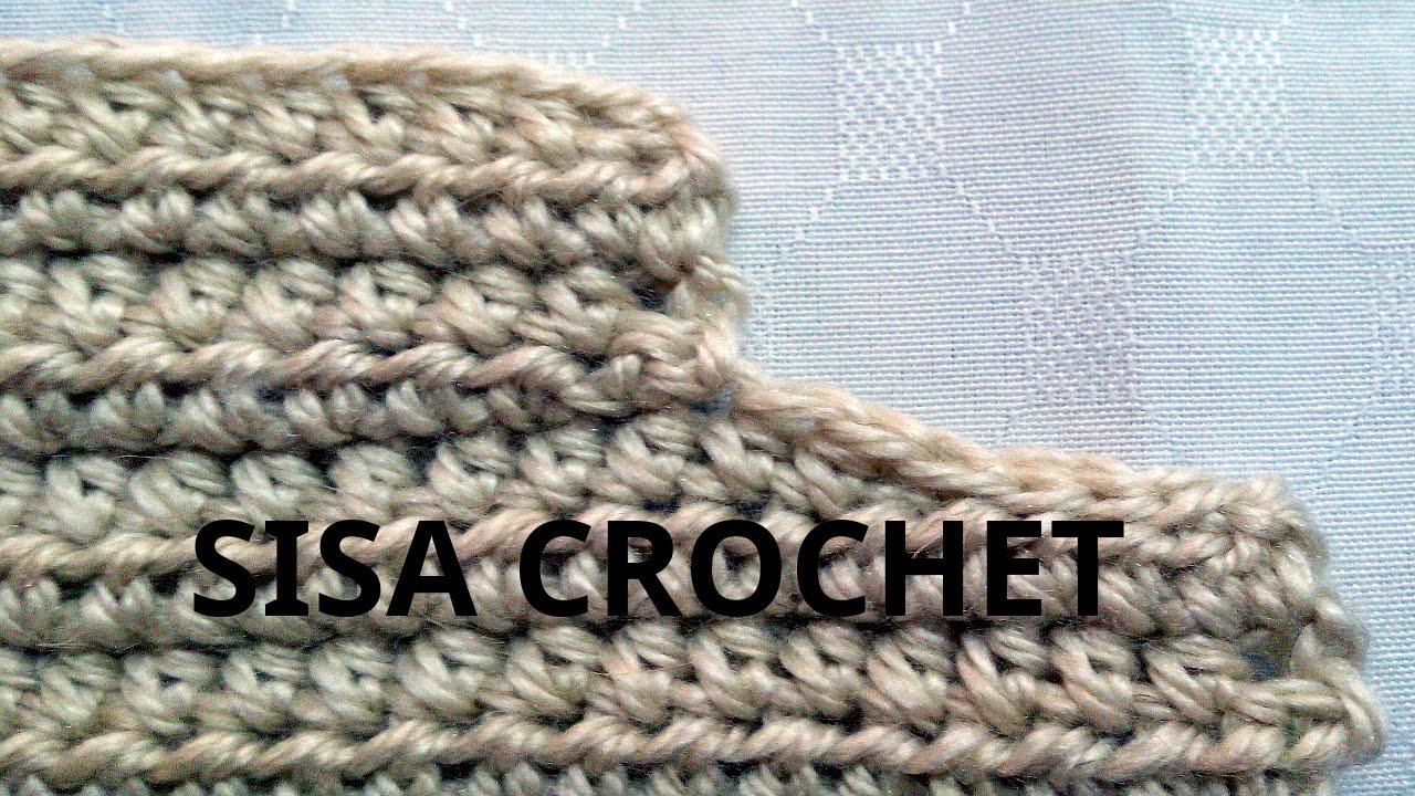 Curso crochet o ganchillo  Como disminuir una  sisa tutorial paso a paso.  Moda a Crochet - YouTube 67a736362654