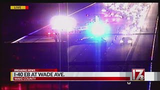 Accident closes lanes on I-40 east at Wade Ave.