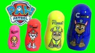 PAW PATROL Toys Stacking Cups Surprise Marshall Rubble Skye Chase