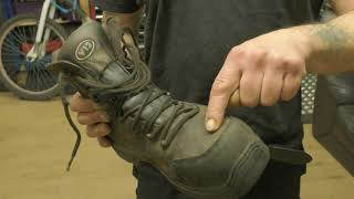 Under the Overalls- A Better Kneeling Position When Working - Boots and Padded Kneepads