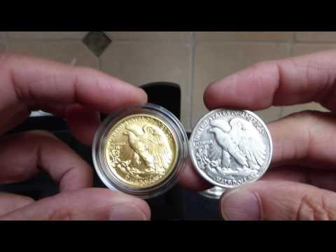 Centennial Gold Walking Liberty, 5 oz Libertad, 2017 Silver Britannia