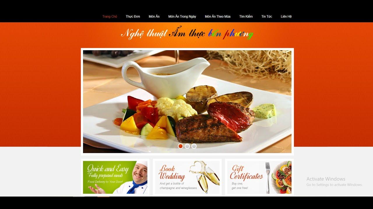 Chia sẻ source code giới thiệu nhà hàng theo mô hình mvc php và mysql