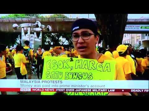 BERSIH 4 Day #2 reported by BBC World News (subtitle included)