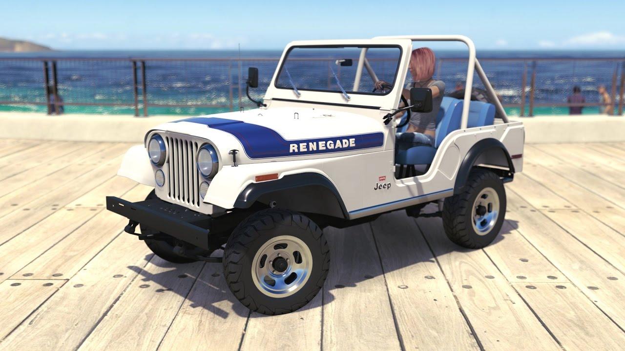 forza horizon 3 - 1976 jeep cj5 renegade - youtube
