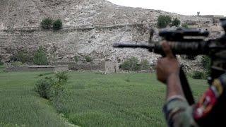 Afghan troops sweep ISIS area after US blast
