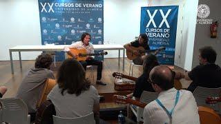 El guitarrista almeriense 'Tomatito' ha inaugurado la cuarta edición de su master class 'Sonanta'