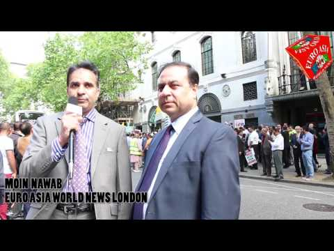 EURO ASIA WORLD 17.07.2016 PROTEST FOR KASHMIRI PEOPLE IN LONDON