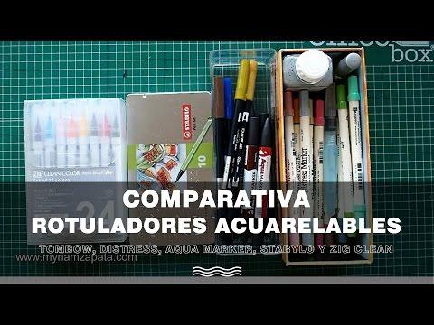 Comparativa rotuladores acuarelables