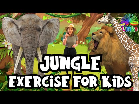 Jungle Exercise for Kids | Indoor workout for Children | No Equipment PE Lesson for Kids