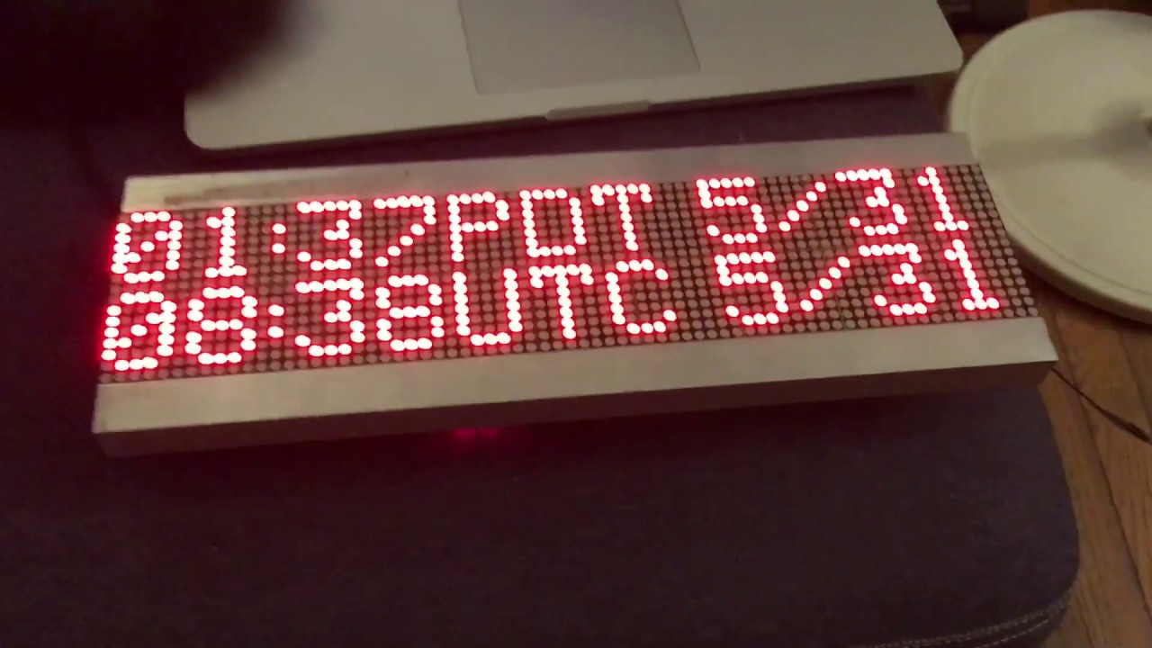 Utc Smart Clock With Esp8266 And Led Panels Youtube
