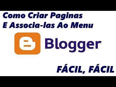 Como Criar Paginas No Blogger Através Dos Marcadores e Associa-las Ao Menu