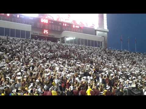 Sandstorm before kickoff  South Carolina Gamecocks vs Georgia  2012