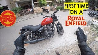 Guy rides Royal Enfield for the FIRST TIME   Thunderbird 350 X - Reaction & Detailed Review