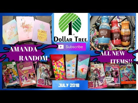 DOLLAR TREE HAUL - ALL NEW ITEMS - BOOKS, GLITTER FOLDERS, ICED COFFEE, & MORE!