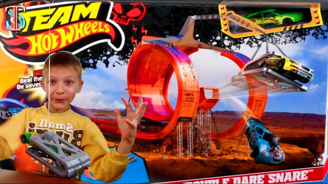 Хот Вилс Трек Ловушка || Hot Wheels Team Double Dare Snare