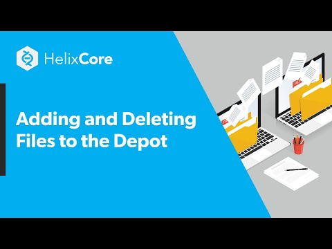 Adding and Deleting Files to the Depot
