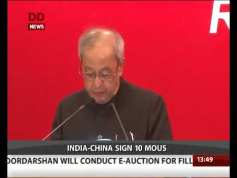 India-China sign 10 MoUs