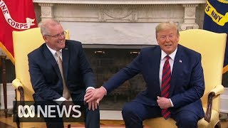 PM Scott Morrison welcomed to White House ahead of state dinner | ABC News