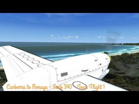 Canberra to Moruya - Saab 340 - Tour Flight 1