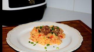 Рис с Мясными Шариками в Мультиварке Скороварке Redmond Рецепты в мультиварке скороварке