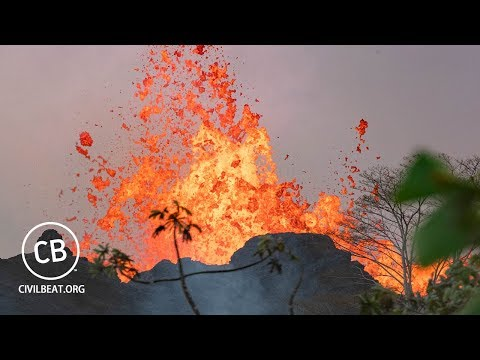 Live Video: Active Kilauea Lava Flow In Lower Puna, Hawaii