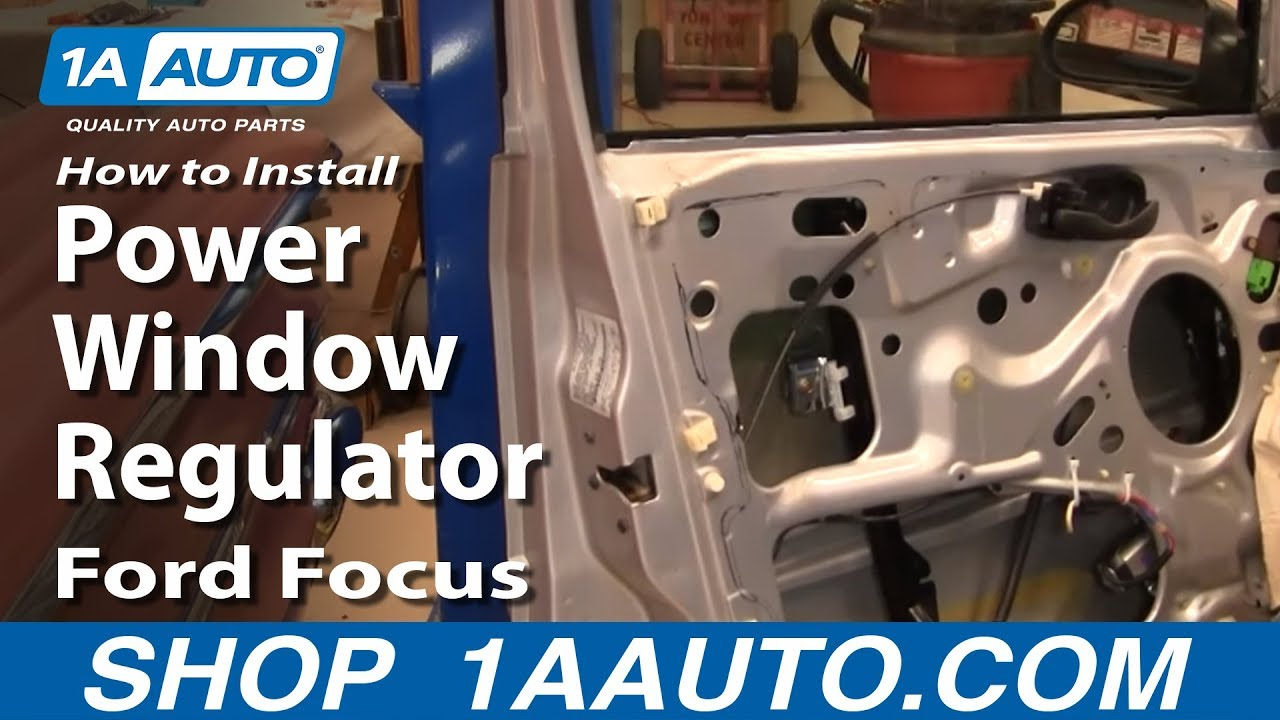 how to install replace front power window regulator ford focus 00 07 youtube. Black Bedroom Furniture Sets. Home Design Ideas