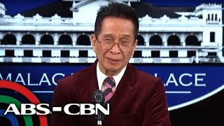 Presidential Spokesman Panelo holds press briefing | ABS-CBN News
