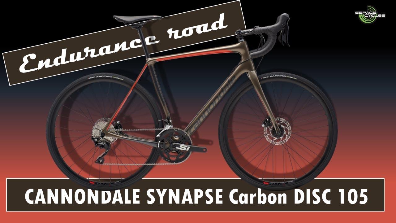 78d3c6c9b69 CANNONDALE SYNAPSE carbon DISC 105 - 2019 - YouTube