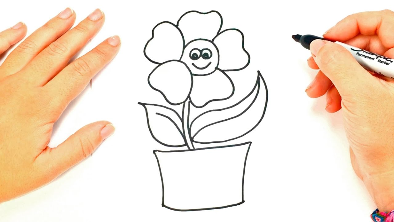 Como dibujar una planta paso a paso dibujo f cil de for Plantas para dibujar