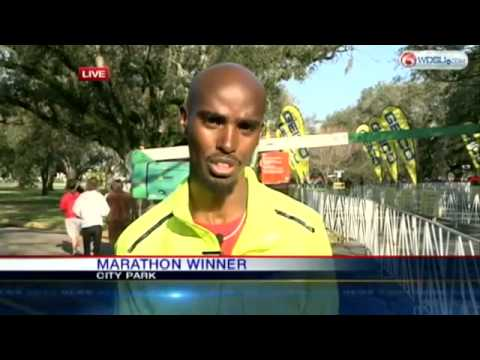 Mo Farah asked by US TV presenter- 'Haven't you run before-' - video