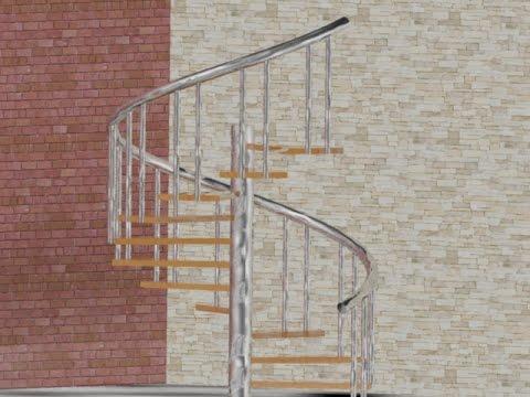 Corso di autocad costruire una scala a chiocciola 3d for Scala a chiocciola 3d