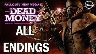 Fallout New Vegas Dead Money Gameplay Walkthrough - Part 9 ALL ENDINGS & FINAL BOSS