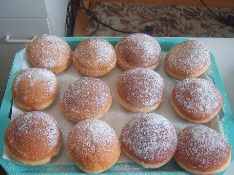 германские пончики видео рецепт