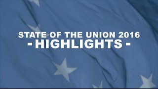 Highlights of the State of the European Union speech 2016