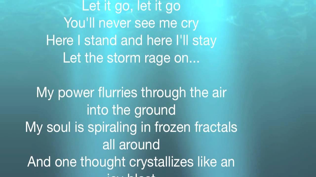 Frozen - Let it go (Full Lyrics) - YouTube