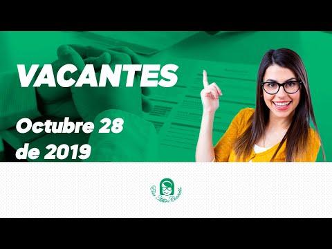 Vacantes E Empleo 28 De Octubre Del 2019