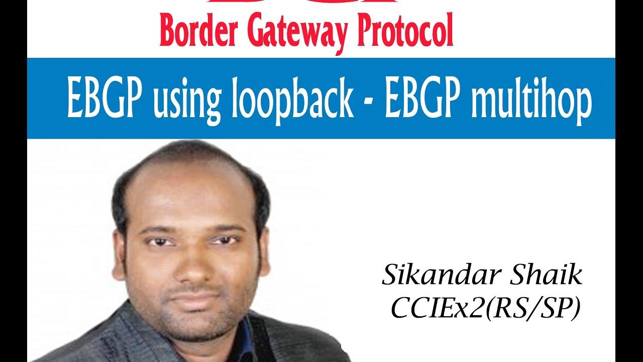 EBGP Using Loopback - EBGP multihop  -  Video By Sikandar Shaik || Dual CCIE (RS/SP) # 35012