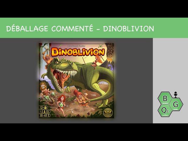Déballage commenté - Dinoblivion (Kickstarter)