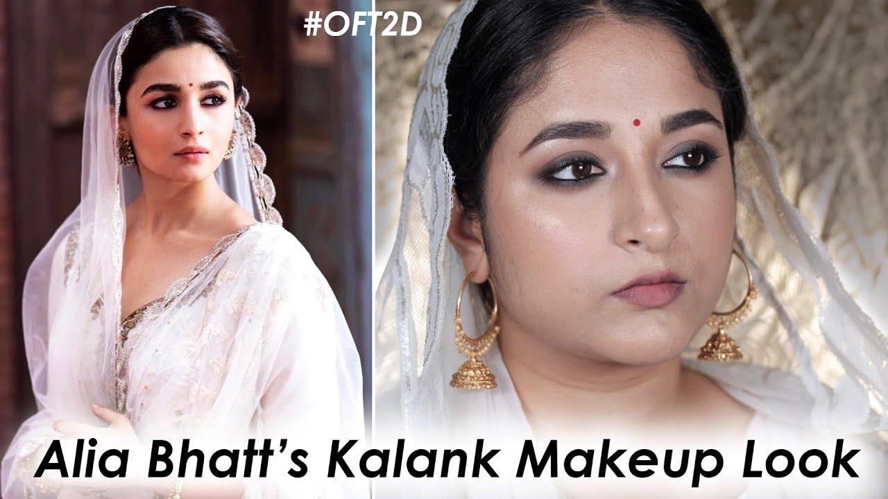 Kalank Alia Bhatt Inspired Makeup Look Oft2d Youtube